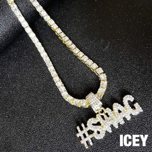 18K Gold Plated Hashtag Swag Tennis Chain